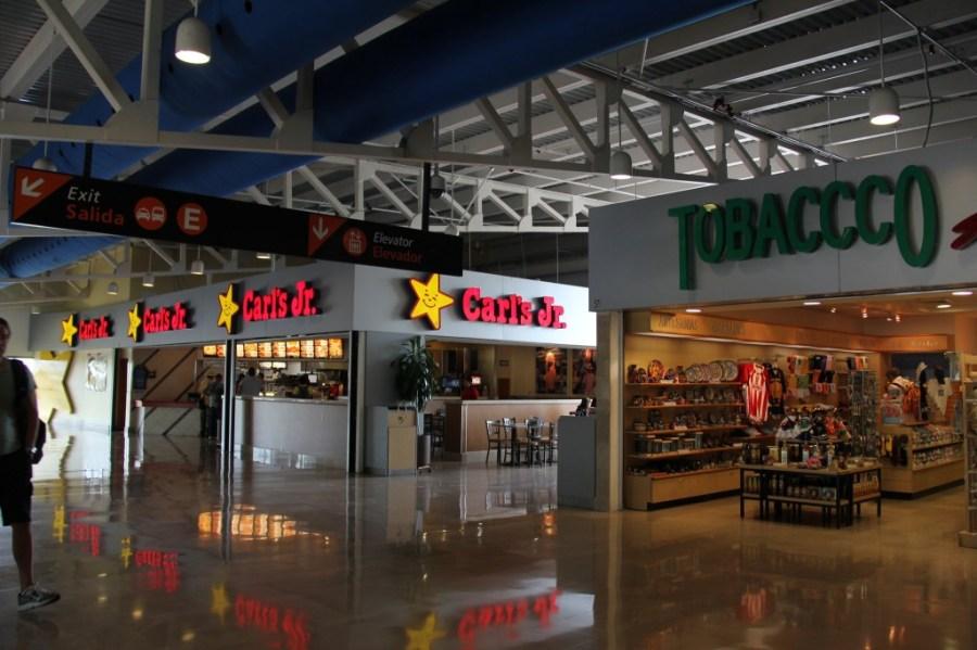 Carl's Jr. Restaurant in PVR Airport Puerto Vallarta Mexico