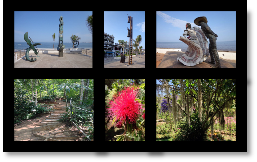 Malecon Sculptures and Botanical Gardens in Puerto Vallarta, Mexico