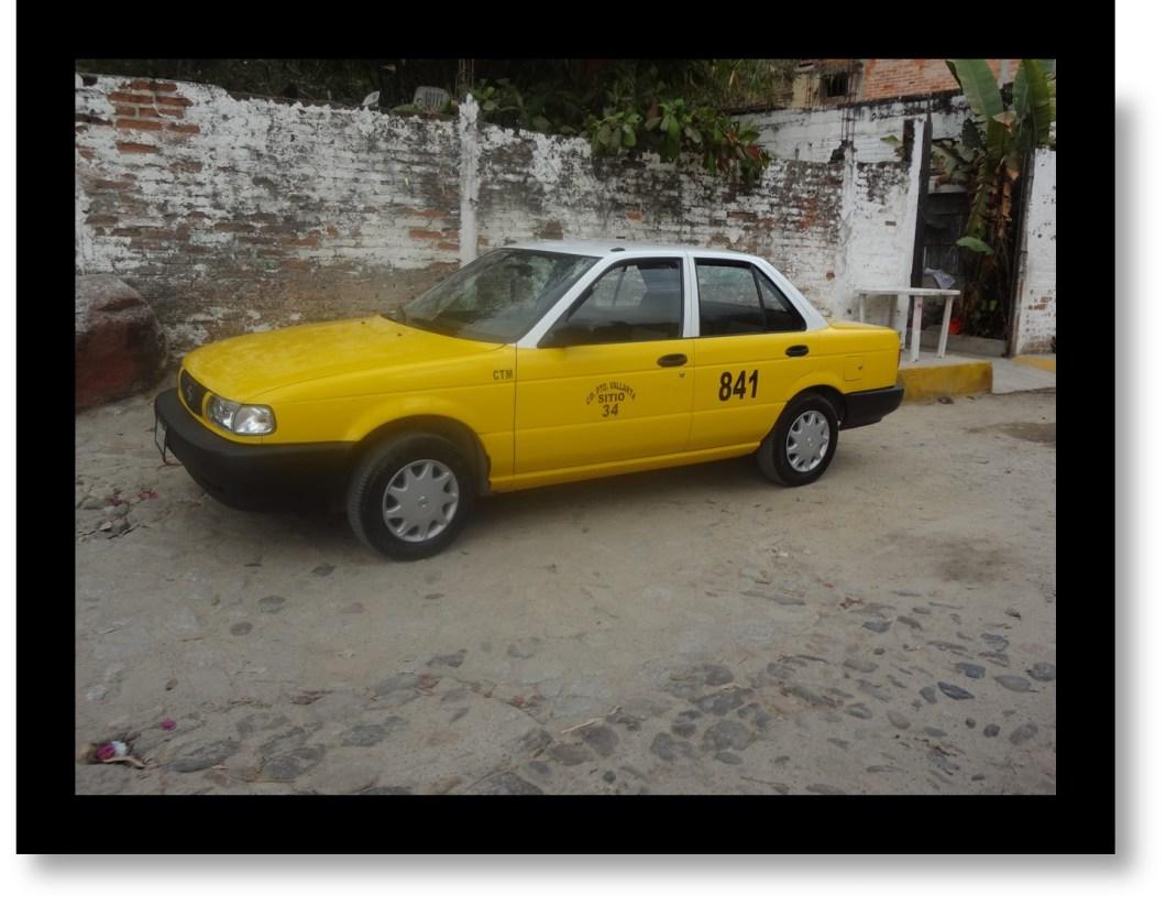 Yellow Taxi Cab in Puerto Vallarta, Mexico