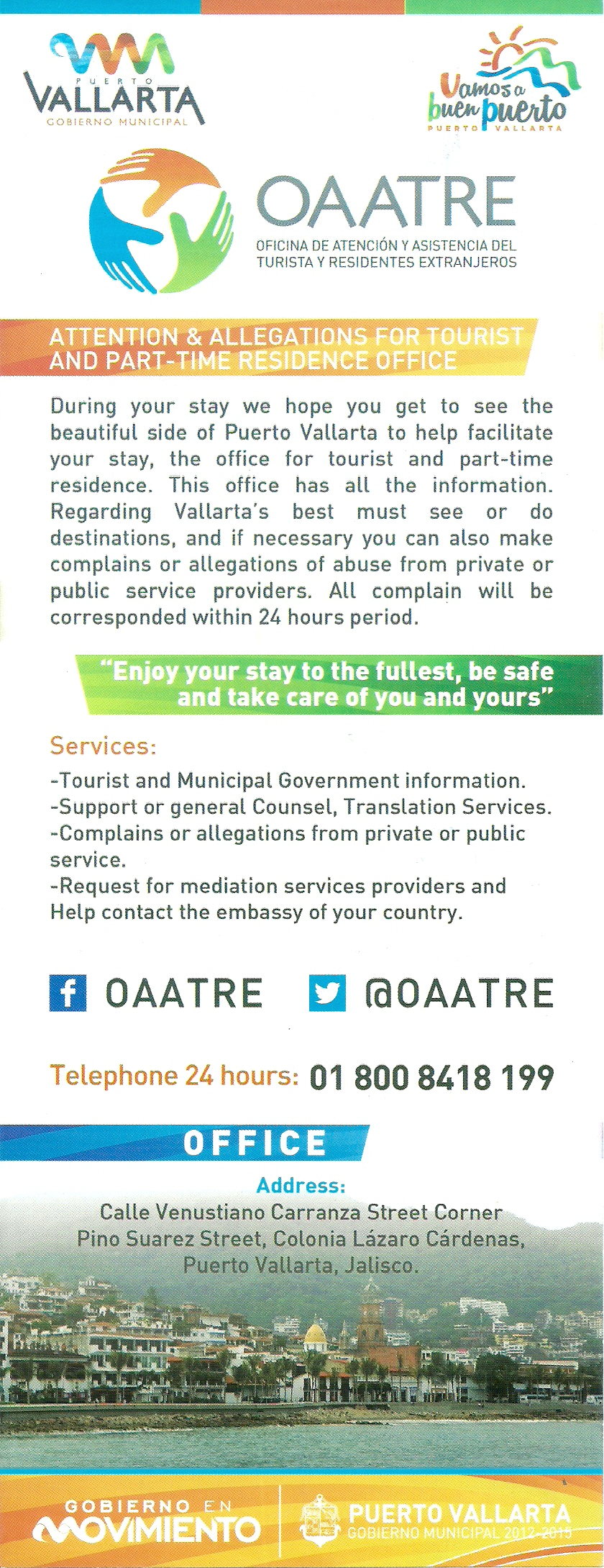 OAATRE - Free Legal Help for Tourists in Puerto Vallarta, Mexico