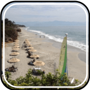 Picture linking to Destiladeras beach information.