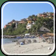 Picture linking to La Manzanilla beach information.