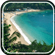 Picture linking to Mismaloya beach information.