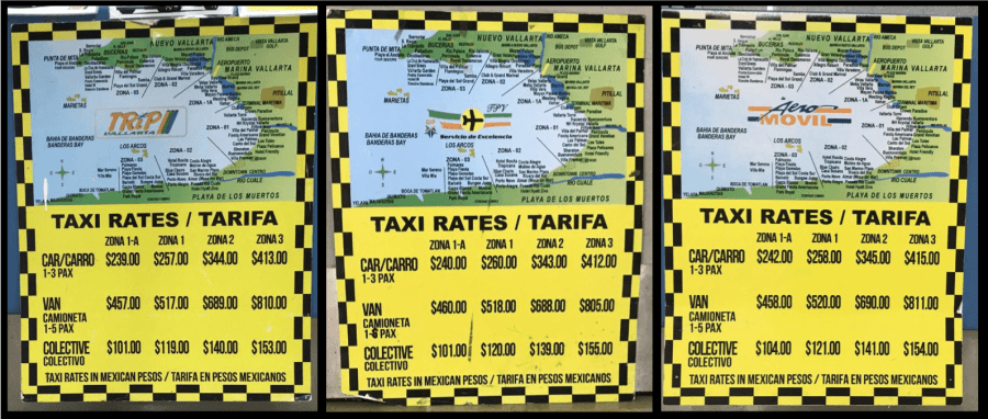 Airport taxi rates