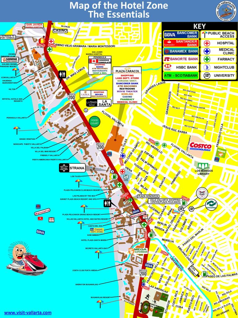 This is a map of the Hotel Zone of Puerto Vallarta in jpeg format