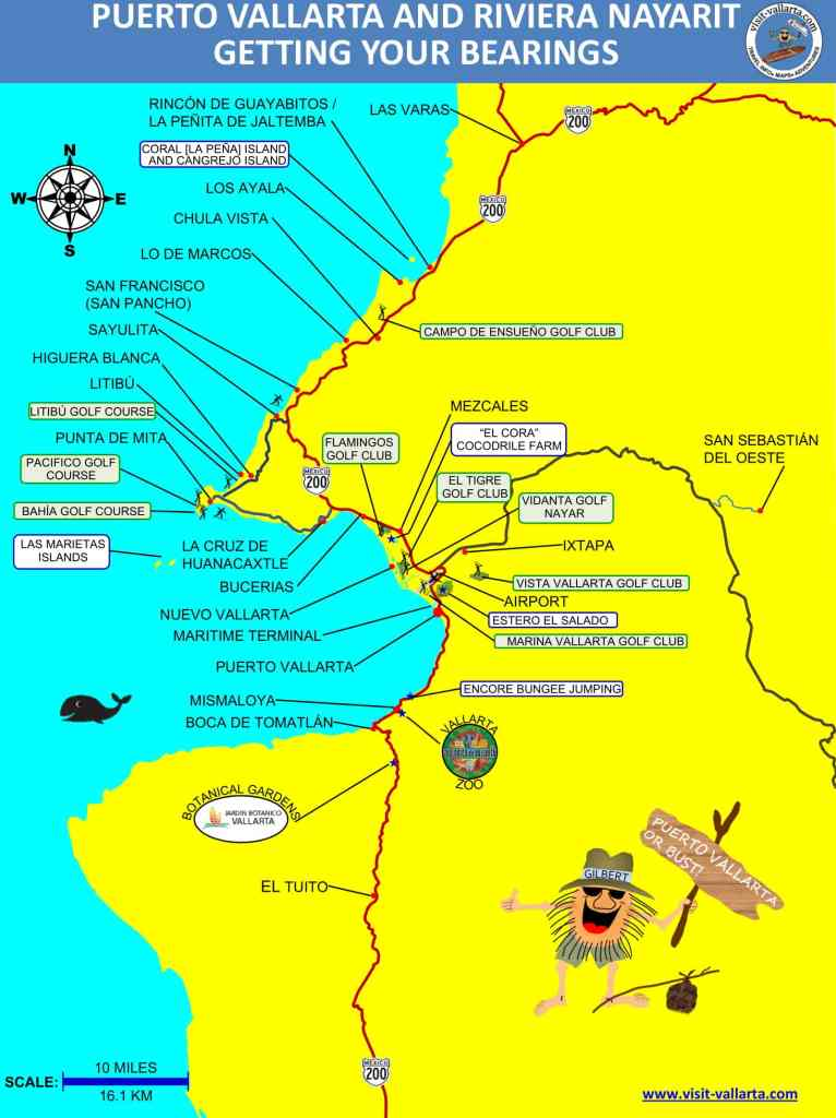This is a map of Banderas Bay, including Puerto Vallarta and Riviera Nayarit in jpeg format
