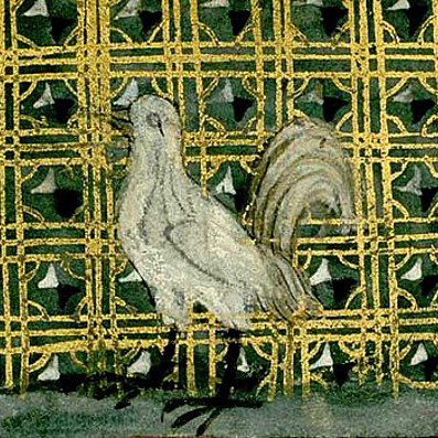 "Miniatura di un cappone - Enciclopedia ""De proprietatibus rerum"" di Bartolome l'Inglese, 1240 ca."