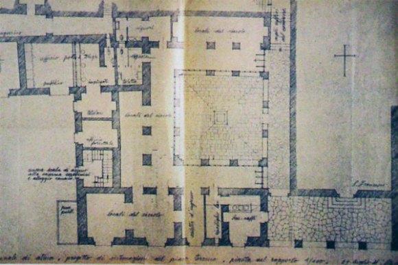 Pianta ex Convento San Francesco di Atina