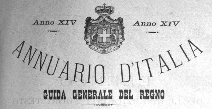 annuario d'italia 1897