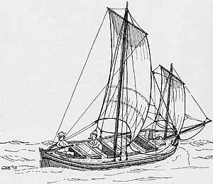 Depiction of The Virginia Built in 1607