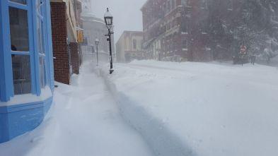 Centre street snow storm