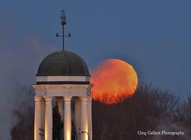 Blood moon over Bath