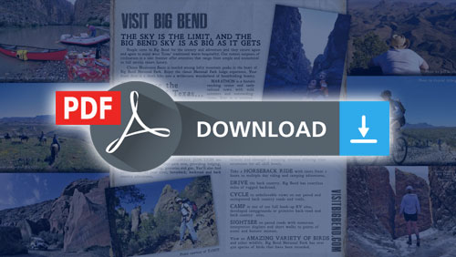 FREE Tourism Brochure For The Big Bend Region Of Texas