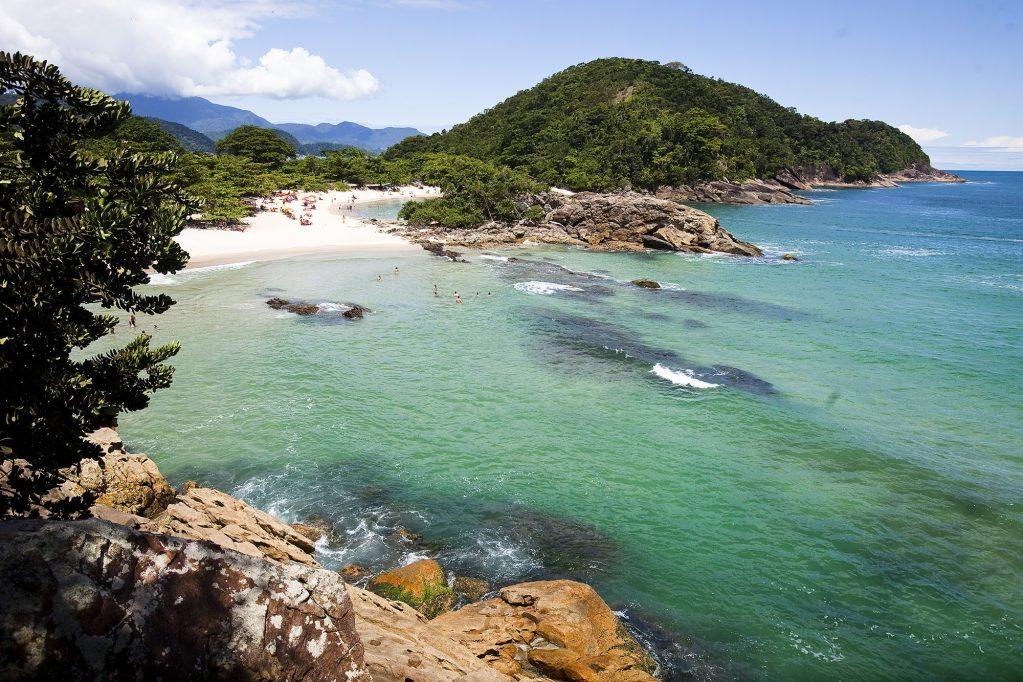 Trindade, Paraty; Rio de Janeiro; ; Brazil; beach, ocean,twin beach, green water, water, salt water,