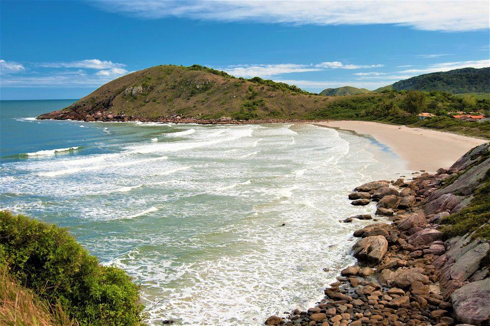 Beach in Ilha do Mel (Honey Island) in Parana coast - Brazil