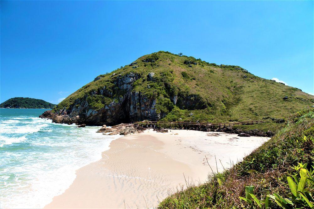 Encantadas Beach in Ilha do Mel (Honey Island) in Parana coast - Southern Brazil