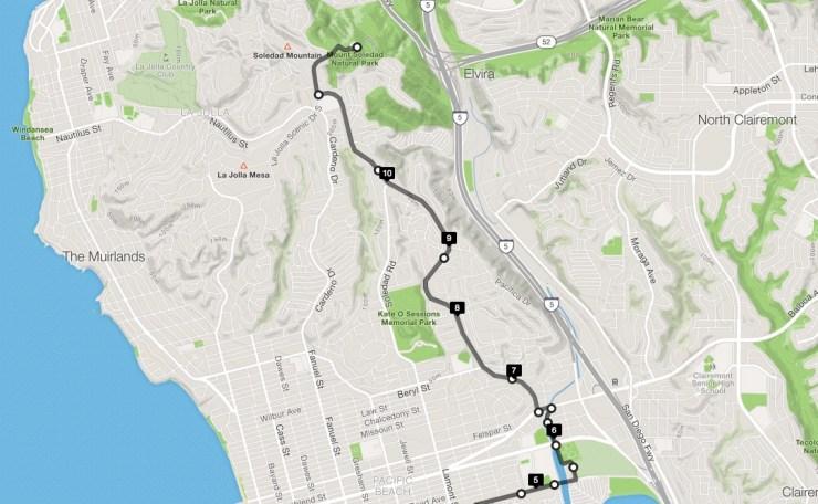 Best San Diego Cycling Climb Mt Soledad
