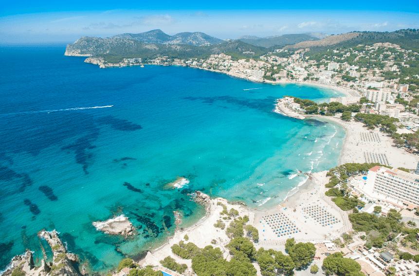 Peguera desde arriba, playas de Peguera, Peguera beaches