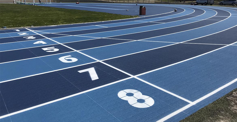 Pista de atletismo de magaluf. pista d'atletisme de magaluf. athletics track magaluf.
