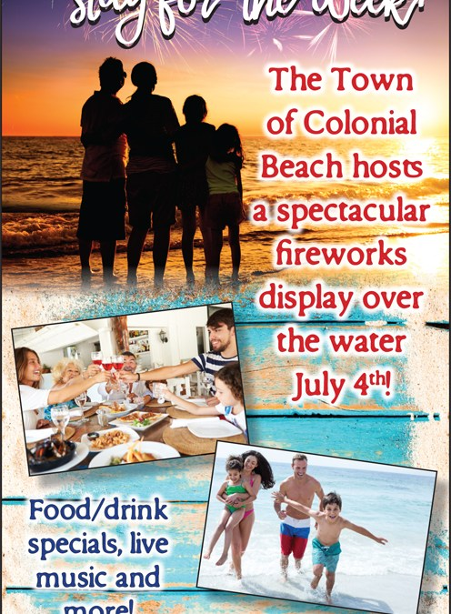 Things to Do in Colonial Beach Virginia Week of July 4th