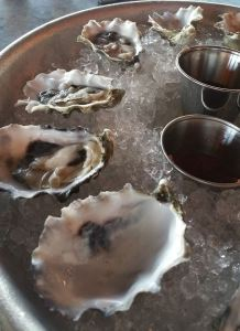 oysters and wine tasting