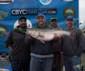 Striped bass (rockfish) tournament winners