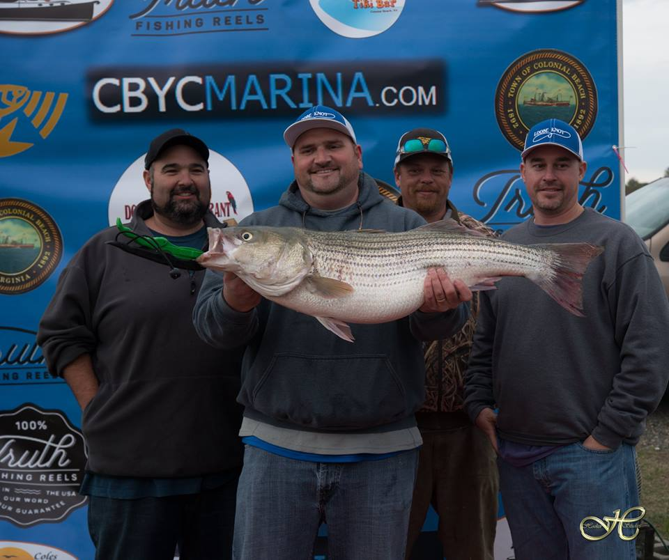 Striped bass (rockfish) tournament winners