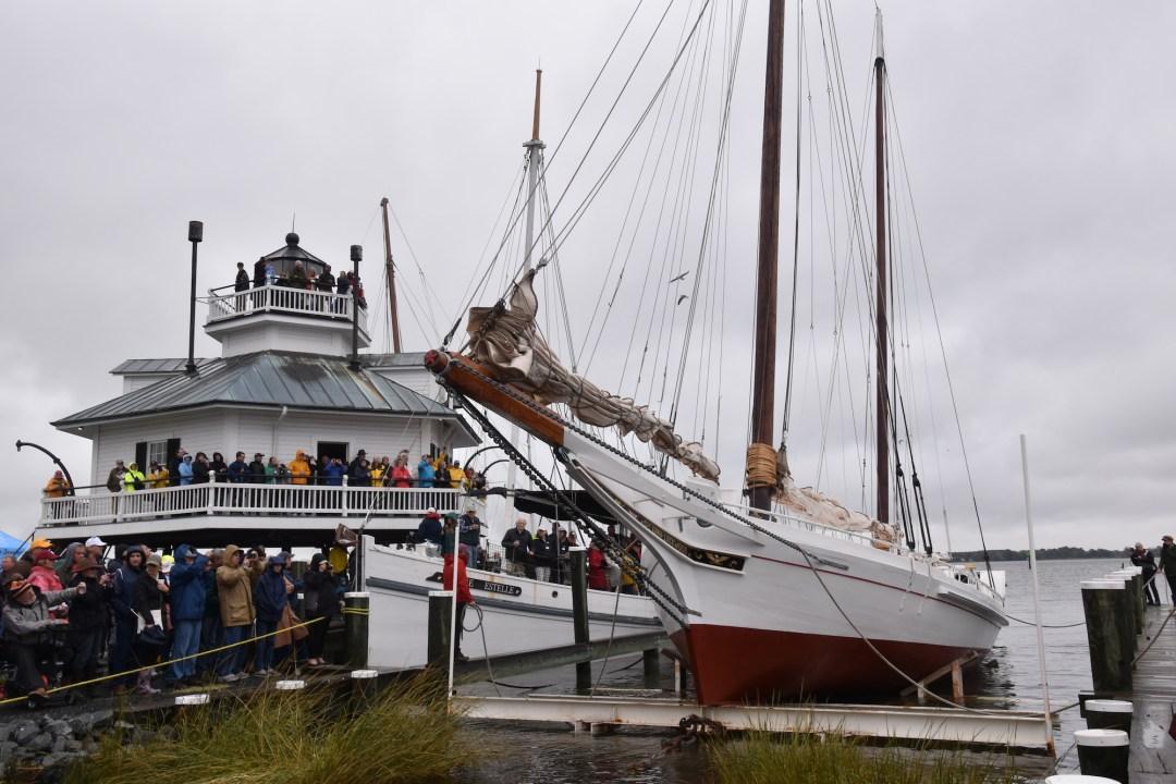 National Historic Landmark Edna E. Lockwood relaunched in Miles river in 2018