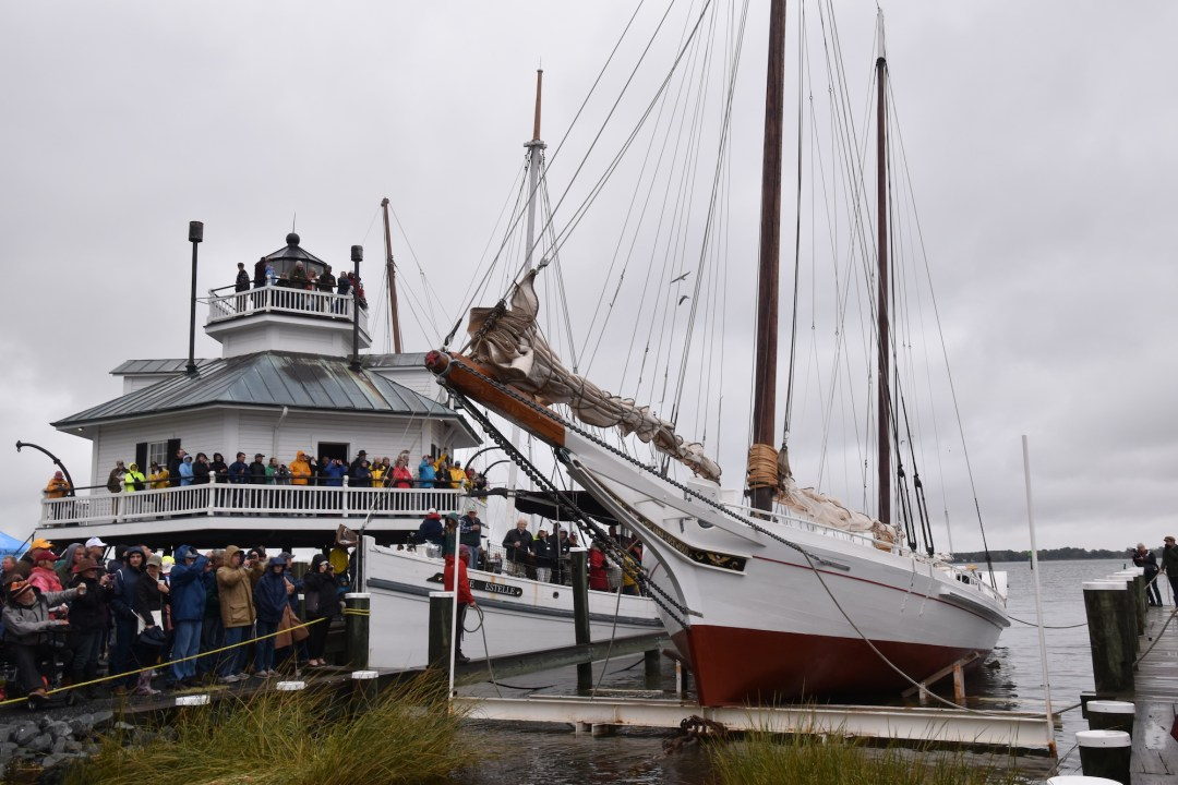National Historic Landmark Edna E. Lockwood relaunched in Miles river in 2018