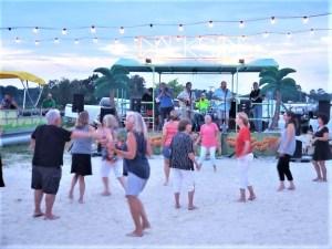 Beach dance party