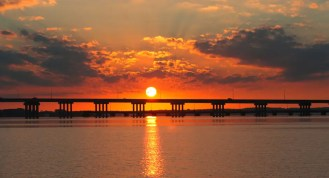 Sunrise Choptank Bridge
