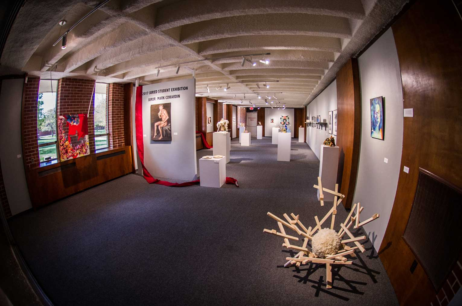 eppink gallery in king hall on Emporia state university campus