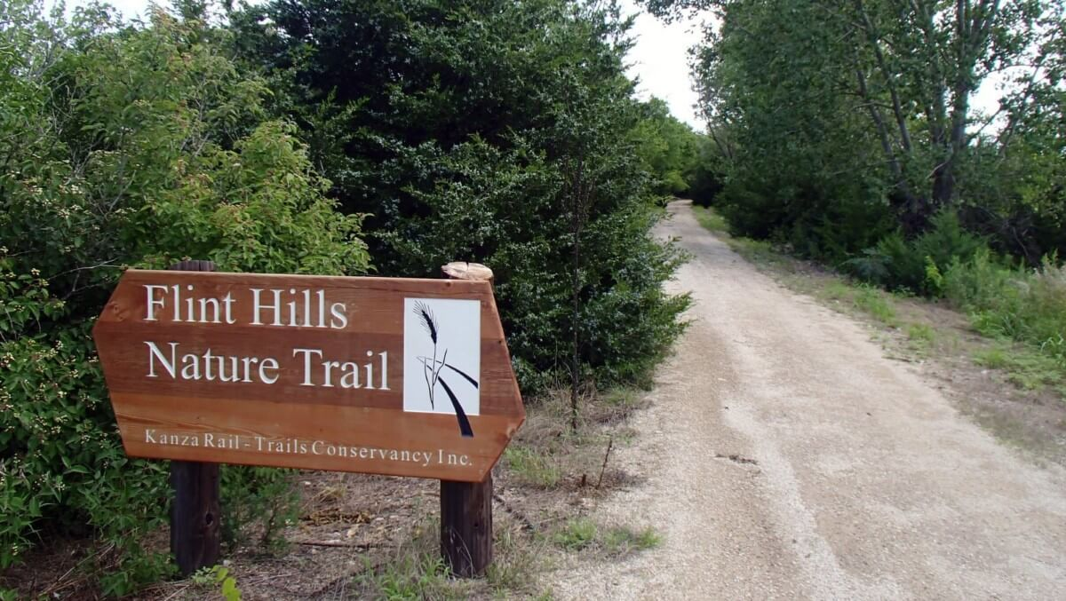 Sign at the Flint hills nature trail