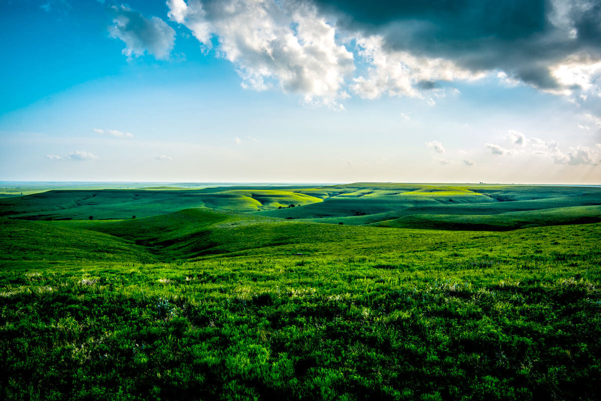 the flint hills in spring