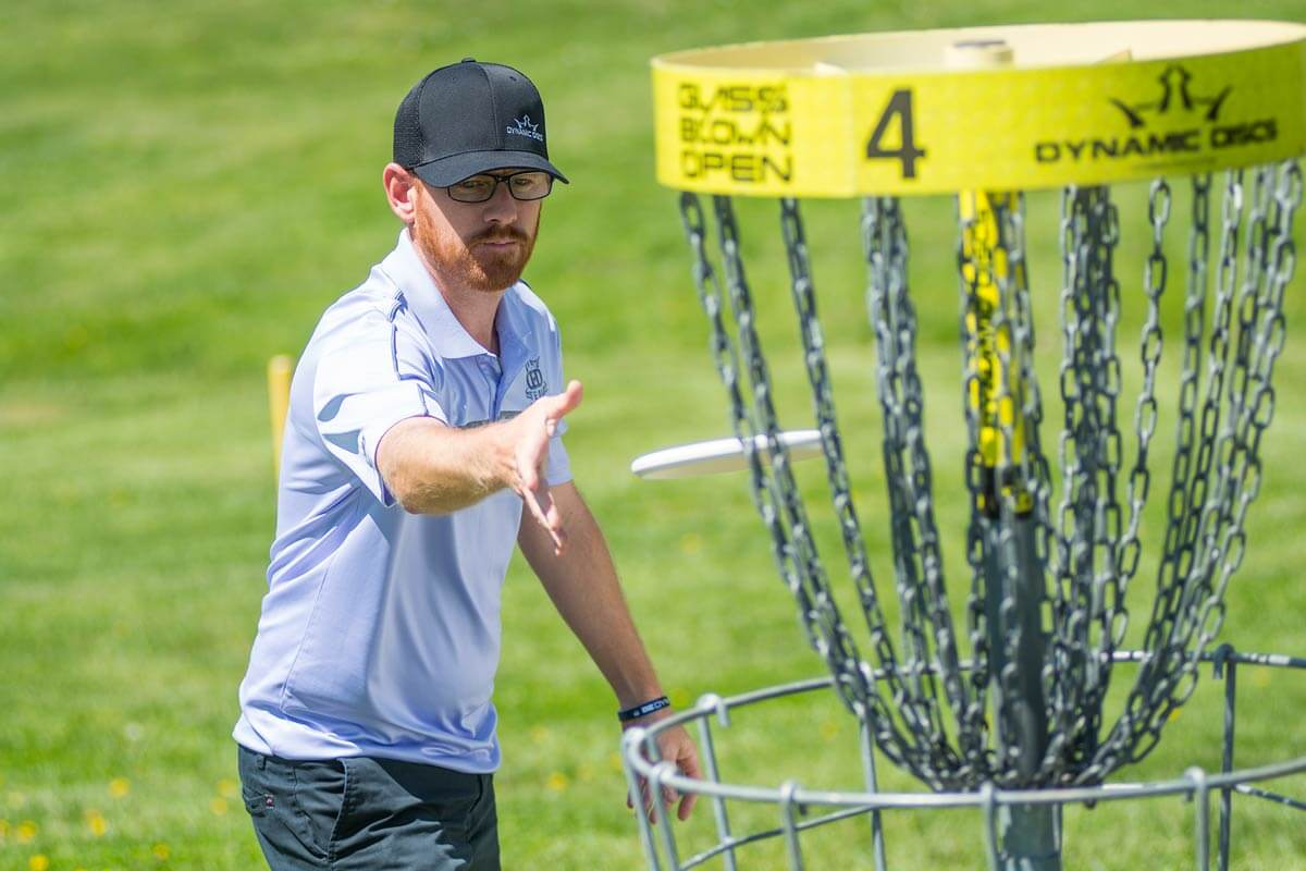 Disc golfer Eric McCabe at Jones Park