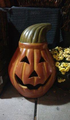 Enfeite em cerâmica em forma de abóbora do Halloween em Seattle