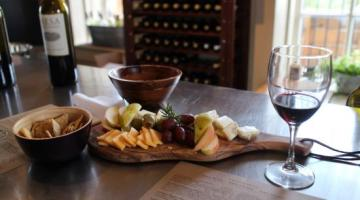 Grey Mule Saloon offers wine, cheeseboards, and more