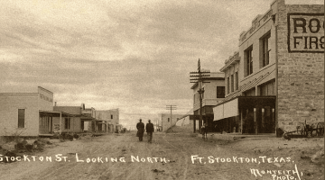 Downtown Fort Stockton - 1910