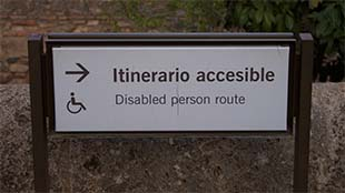 Disabled route sign
