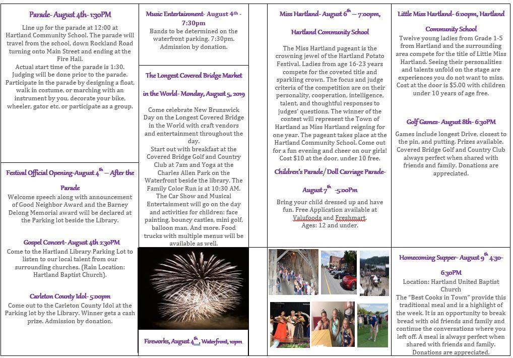 Hartland Potato Festival Information