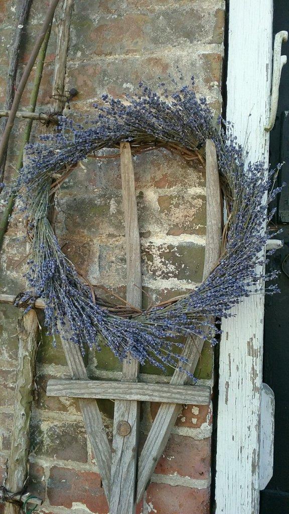 Grapevine and Lavender Wreath