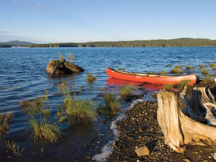 Brassua Lake offers some of the best remote paddling in Maine.