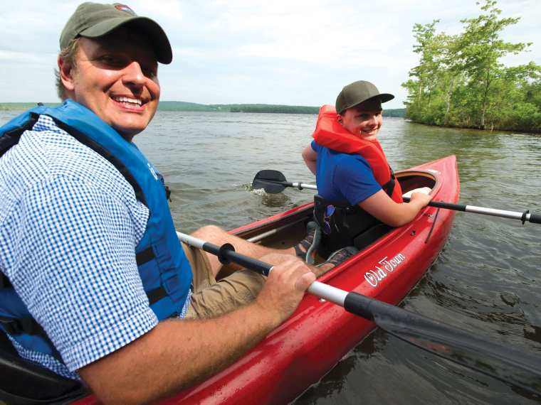 Grab a paddle and a friend and hit one of the many lakes here in Maine's Kennebec Valley