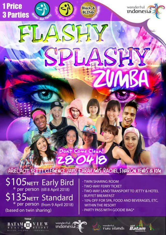 Calendar of Event 2018 - Wonderful Riau Islands - April Mei Kepri Penuh Event - Flash Splashy Zumba