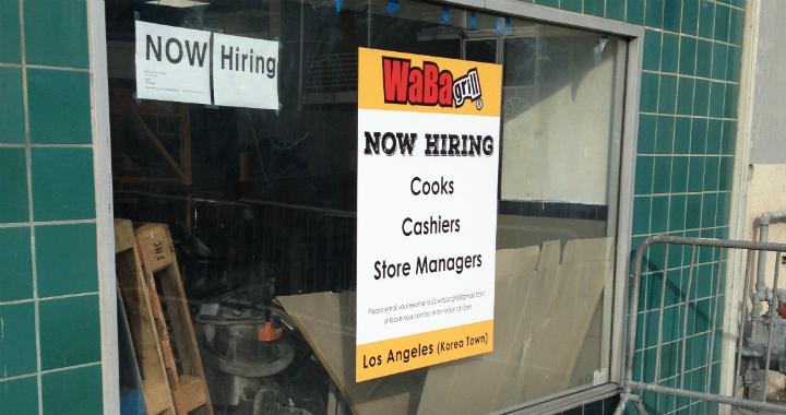 WaBa Grill: Now Hiring in Koreatown LA