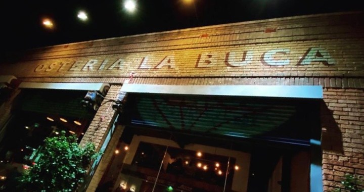 Osteria La Buca at night