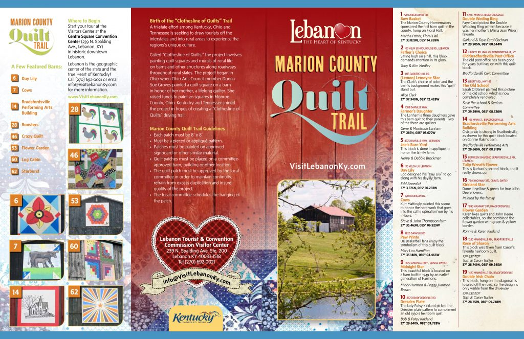 Marion County Quilt Trail – Lebanon
