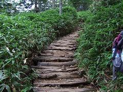 階段が続く