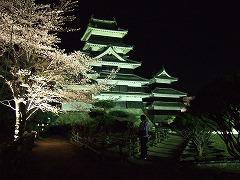 2011/04/14 20:30 国宝松本城の桜情報