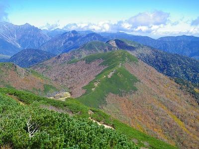 十石山 乗鞍岳~稜線歩き